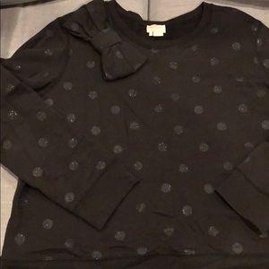 Kate Spade Glitter Dot Bow Sweatshirt